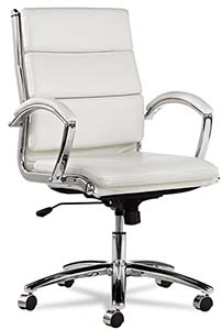 alera white office leather chair