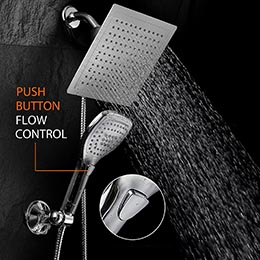 wall mounted dual shower head