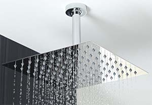 huge rain shower head