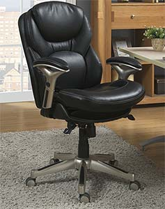serta black leather office chair review