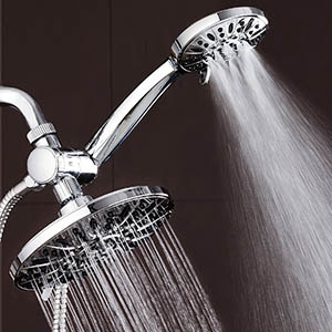 handheld and wall mounted shower head duo