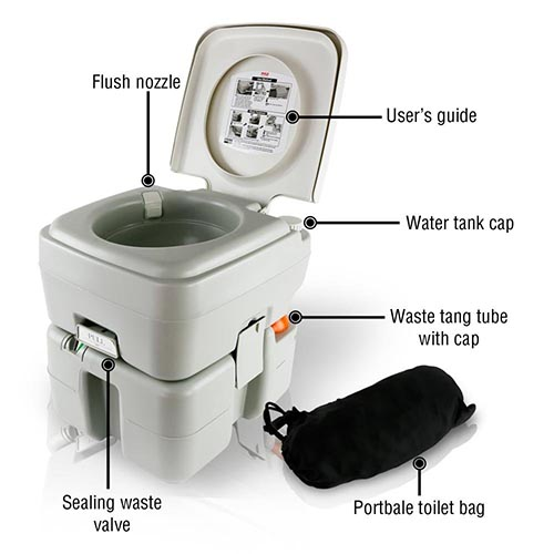 serenelife outdoor toilet