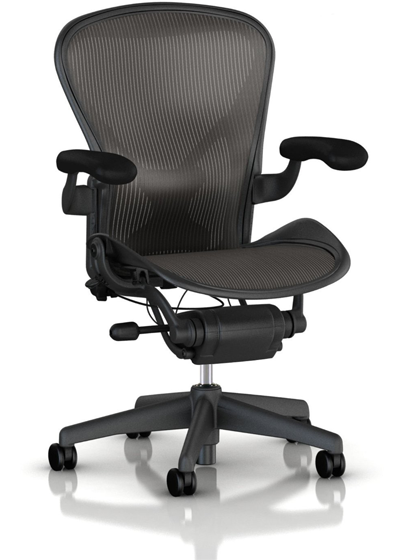 aeron embody chair in black