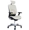 genuine white leather executive chair