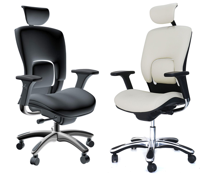 White ergonomic genuine leather chair by GM seating review