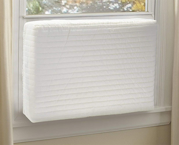 jeacent indoor air conditioner cover with two layers to keep out the dust particles and cold air