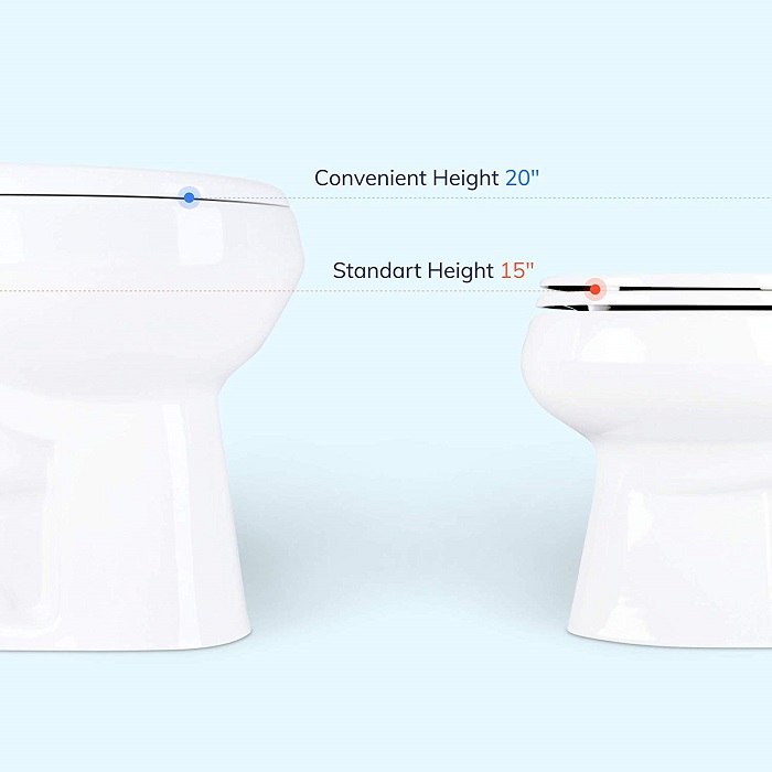 standard height toilet vs comfort height toilet