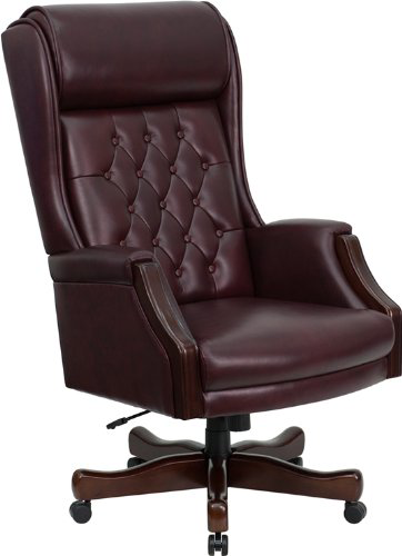 traditional leather executive chair for office