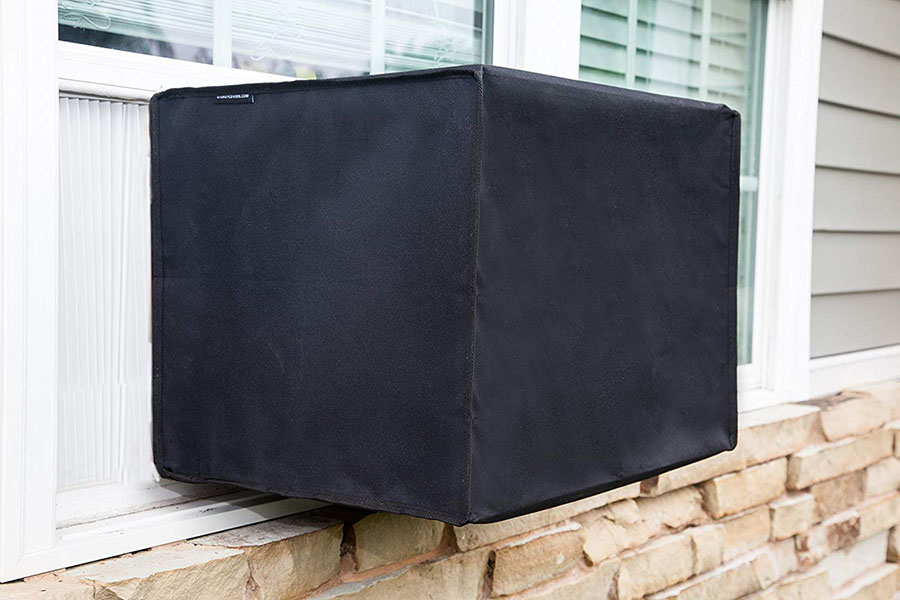 waterproof AC defender cover for wall air conditioners mounted on a wall