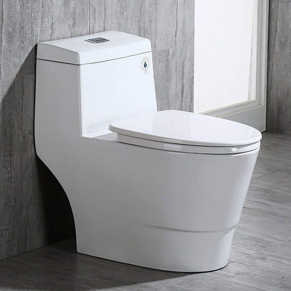 comfort height toilet in a bathroom setting against white background